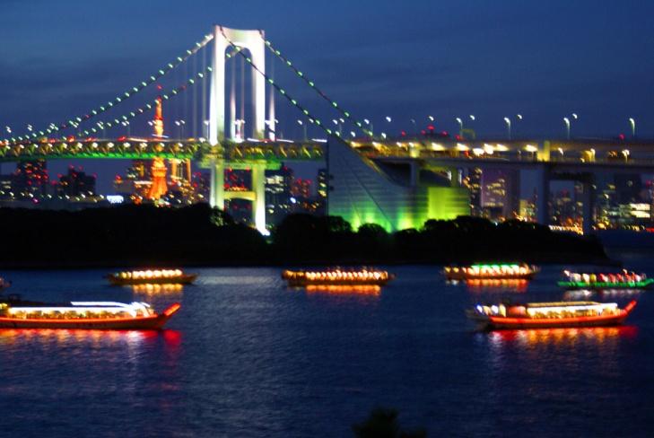 Tokyo Bay in Odaiba, Tokyo, Japan